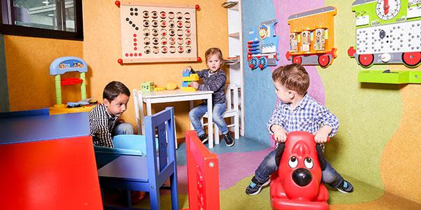 Speelhoek voor de kleintjes in restaurant Frans op den Bult